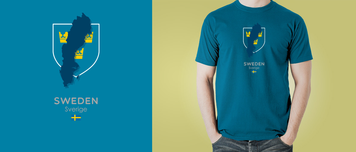 Sweden country flag t-shirt